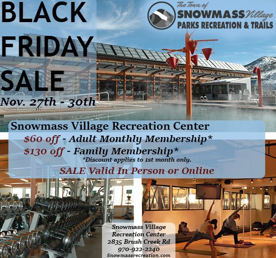 Rec Center Black Friday Sale