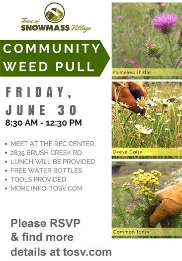 Noxious Weed Event Flier